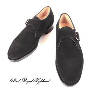 42ND ROYAL HIGHLAND NAVY COLLECTION フォーティーセカンドロイヤルハイランド ネイビーコレクション スエード ハーフラバー 紳士靴 革靴 CH9104SH-01 ブラック|up-avanti