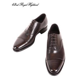 国内正規品 20-21SS 42ND ROYAL HIGHLAND ストレートチップ ドレスシューズ 紳士靴 革靴 内羽根 ビジネス CH9301-11 ブラウン|up-avanti