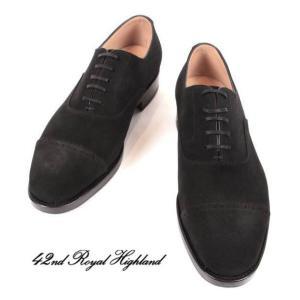 42ND ROYAL HIGHLAND NAVY COLLECTION フォーティセカンド ロイヤルハイランド ネイビーコレクション スエード ハーフラバー 紳士靴 革靴 ch9310sh-01 ブラック|up-avanti