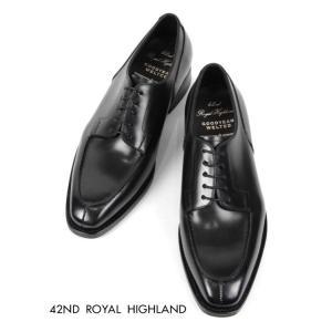 42ND ROYAL HIGHLAND フォーティーセカンドロイヤルハイランド Uチップ ドレスシューズ 紳士靴 革靴 ビジネス ビブラム ソール CH9401-01 ブラック 国内正規品|up-avanti