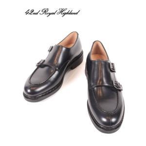 42ND ROYAL HIGHLAND EXPLORER フォーティーセカンドロイヤルハイランドエクスプローラー Wモンクシューズ ドレスシューズ 革靴 CH6103-31 ネイビー 国内正規品|up-avanti