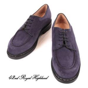 42ND ROYAL HIGHLAND EXPLORER フォーティーセカンドロイヤルハイランド エクスプローラー Uチップ スエード 革靴 ビジネス CHN6401S-31 ネイビー 国内正規品|up-avanti