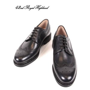 42ND ROYAL HIGHLAND EXPLORER  フォーティーセカンドロイヤルハイランド エクスプローラー ウィングチップ メンズ 革靴 CHN6501-31 ネイビー 国内正規品|up-avanti