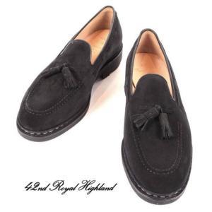 42ND ROYAL HIGHLAND EXPLORER フォーティーセカンドロイヤルハイランドエクスプローラー スエードドレスシューズ 紳士靴 革靴 CHN7002S-01 BLACK ブラック|up-avanti