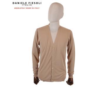 【国内正規品】DANIELE FIESOLI ダニエレフィエゾーリ 長袖Vカーディガン DF0302 0032 CAMEL キャメル up-avanti