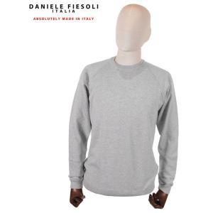 【国内正規品】DANIELE FIESOLI ダニエレ フィエゾーリ スウェットトレーナー ラグラン コットン イタリア製 DF0322 グレー up-avanti