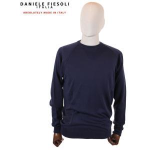 【国内正規品】DANIELE FIESOLI ダニエレ フィエゾーリ スウェットトレーナー ラグラン コットン イタリア製 DF0322 ネイビー up-avanti