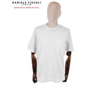 【国内正規品】DANIELE FIESOLI ダニエレ フィエゾーリ 半袖カットソー Tシャツ コットン イタリア製 DF0637 ホワイト up-avanti