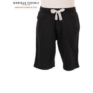 【国内正規品】 DANIELE FIESOSOLI ダニエレフィエゾーリ スウェット ハーフパンツ ストレッチ ショートパンツ DF0641 ブラック up-avanti