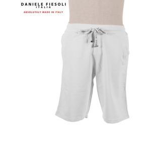【国内正規品】 DANIELE FIESOSOLI ダニエレフィエゾーリ スウェット ハーフパンツ ストレッチ ショートパンツ DF0641 ホワイト up-avanti