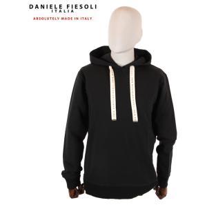 【国内正規品】 DANIELE FIESOLI ダニエレフィエゾーリ スウェットパーカー ストレッチ DF0653 ブラック up-avanti