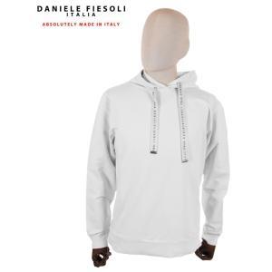 【国内正規品】 DANIELE FIESOLI ダニエレフィエゾーリ スウェットパーカー ストレッチ DF0653 ホワイト up-avanti
