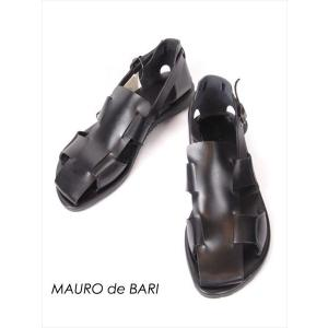 MAURO de BARI マウロ ディ バリ レザー グルカサンダル 本革 DS191UA1916VAFUSLGO NERO ブラック 国内正規品|up-avanti