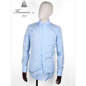 Finamore フィナモレ FIRENZE フィレンツェ CAPRI イタリアンカラーシャツ ブルー 140001 スリムタイト 国内正規品 up-avanti