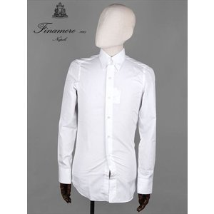 FINAMORE フィナモレ FIRENZE フィレンツェ AUGUSTO タブカラーシャツ ホワイト 140001 スリムタイト 国内正規品 up-avanti