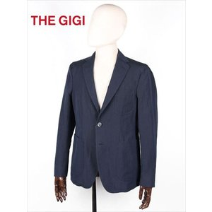 THE GIGI ザ・ジジ 2B シングルテーラードジャケット ネイビー シアサッカー ANGIE H241 国内正規品 up-avanti