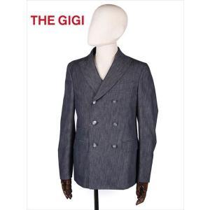 THE GIGI ザ・ジジ 6B ダブルブレスト テーラードジャケット デニム ブラック MIRO DP H083 国内正規品 up-avanti