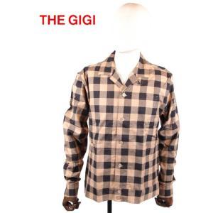 THE GIGI ザ・ジジ ブロックチェック シャツ型ブルゾン GG192UABELLL906 BEIGE×BLACK 国内正規品 up-avanti