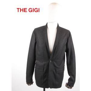 THE GIGI ザ・ジジ 2Bストライプジャケット 角フラップポケット GG192UASTARMANSKL218 BLACK ブラック 国内正規品 up-avanti