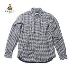 【20%OFFセール】GUY ROVER ギローバー Yシャツ シャツ ブルゾン 千鳥 GR374L J-592355 国内正規品 up-avanti