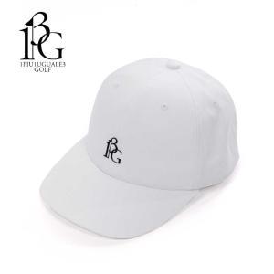 1PIU1UGUALE3 GOLF ウノピゥウノウグァーレトレ ゴルフ キャップ 帽子 メンズ ロゴ ホワイト 6パネル grg065-cot317 国内正規品|up-avanti
