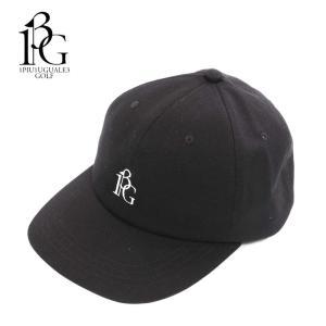 1PIU1UGUALE3 GOLF ウノピゥウノウグァーレトレ ゴルフ キャップ 帽子 メンズ ロゴ ブラック 6パネル grg065-cot317 国内正規品|up-avanti