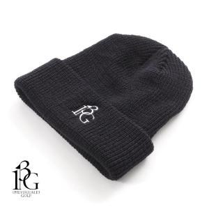 1PIU1UGUALE3 GOLF ウノピゥウノウグァーレトレ ゴルフ ニットキャップ ニット帽 ロゴ刺繍 GRG066-WOL109 ブラック 国内正規品|up-avanti