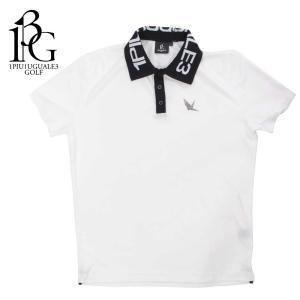 1PIU1UGUALE3 GOLF ウノピゥウノウグァーレトレ ゴルフ ポロシャツ メンズ ロゴ ショートスリーブ バイカラー ホワイト grt027-pry073 国内正規品|up-avanti