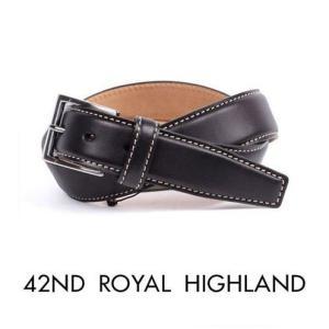42nd ROYAL HIGHLAND フォーティーセカンドロイヤルハイランド カーフベルト ブラック KB04-01 国内正規品|up-avanti