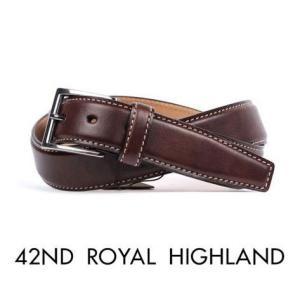 42nd ROYAL HIGHLAND フォーティーセカンドロイヤルハイランド カーフベルト カーフレザーベルト ダークブラウン KB04-11 国内正規品|up-avanti