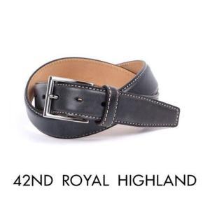 42nd ROYAL HIGHLAND フォーティーセカンドロイヤルハイランド カーフベルト カーフレザーベルト ブルー KB04-32 国内正規品|up-avanti