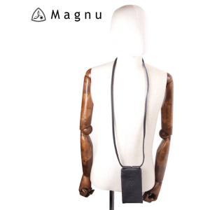 【国内正規品】 MAGNU マヌー SOULIAN MOBILE スマートフォン ショルダーバッグ レザー 本革 スマホケース KM-193-NVA ネイビー|up-avanti