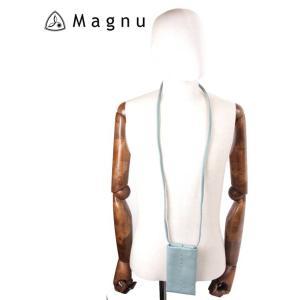 【国内正規品】 MAGNU マヌー SOULIAN MOBILE スマートフォン ショルダーバッグ レザー 本革 スマホケース KM-193-SBLA スカイブルー|up-avanti