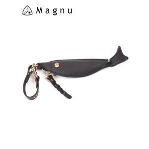 【国内正規品】 MAGNU マヌー COZAKANA CASE 小魚ケース レザーキーケース 本革 KM-195-BKA ブラック|up-avanti