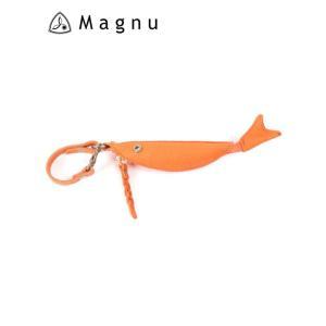 【国内正規品】 MAGNU マヌー COZAKANA CASE 小魚ケース レザーキーケース 本革 KM-195-ORA オレンジ|up-avanti