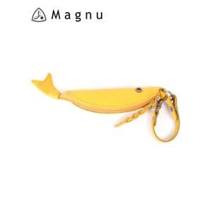 【国内正規品】 MAGNU マヌー COZAKANA CASE 小魚ケース レザーキーケース 本革 KM-195-YEA イエロー|up-avanti