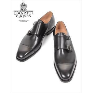 Crockett&Jones LOWNDES クロケット&ジョーンズ ダブルモンクストラップ  レザーシューズ ブラック 革靴 ビジネスシューズ 国内正規品|up-avanti