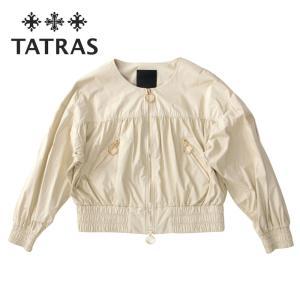 TATRAS タトラス レディース ILIZIA ノーカラー ショート丈 ブルゾン ギャザー パフスリーブ ltat21s4847-l SAND サンド ベージュ 国内正規品|up-avanti