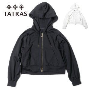 TATRAS タトラス レディース EURIBIA ゴールドジップパーカー パーカー 光沢 薄手 LTAT21S8099-M 国内正規品|up-avanti