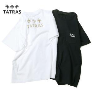 TATRAS タトラス BOREA ブランドロゴ バックプリント 半袖 Tシャツ カットソー レディース LTAT21S8103-M 国内正規品|up-avanti