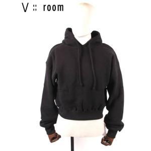 【国内正規品】【レディース】20SS新作 V::ROOM(ヴィルーム) ロングスリーブプルオーバーフーディー LVR20S8006 BLACK ブラック vroom|up-avanti