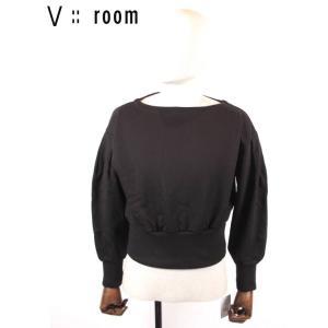 【国内正規品】【レディース】20SS新作 V::ROOM(ヴィルーム)ボートネックスェットプルオーバー LVR20S8007 BLACK ブラック vroom|up-avanti