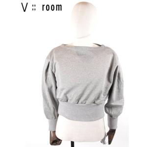 【国内正規品】【レディース】20SS新作 V::ROOM(ヴィルーム)ボートネックスェットプルオーバー LVR20S8007 GRAY グレー vroom|up-avanti