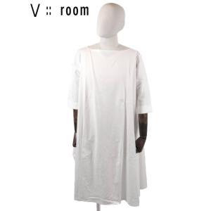 【国内正規品】【レディース】20SS新作  V::ROOM(ヴィルーム)ビッグシルエットショートスリーブワンピース LVR20S8024 WHITE ホワイト|up-avanti