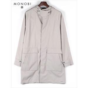 MONOBI モノビ ウールナイロンロングコート グレー MMB18A4029 MONTY 3L PARKA フード付 国内正規品|up-avanti