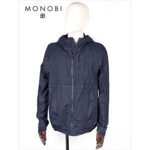 MONOBIモノビナイロンパーカーネイビーMMB18S4015ジップアップシワ加工ベンチレーション付 国内正規品|up-avanti