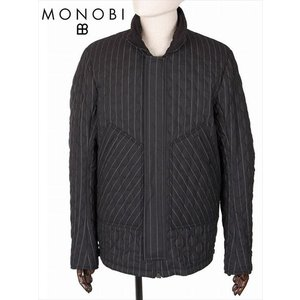 MONOBI モノビ リバーシブル オーバーロードジャケット シアサッカー波型キルティング 中綿入り MMB19A4114 ブラック ライディングジャケット 国内正規品|up-avanti