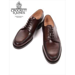 Crockett&Jones MORETON クロケット&ジョーンズ Uチップ レザーシューズ ダークブラウン 革靴 紳士靴 ビジネスシューズ 外羽 モールトン 国内正規品|up-avanti