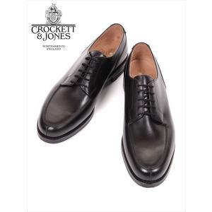 Crockett&Jones MORETON クロケット&ジョーンズ Uチップ レザーシューズ ブラック 革靴 紳士靴 ビジネスシューズ 外羽 モールトン 国内正規品|up-avanti