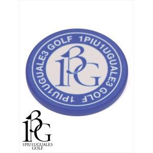 1PIU1UGUALE3 GOLF ウノピゥウノウグァーレトレ ゴルフ グリーンマーカー カジノチップデザイン ロゴプリント MRG360-PLT006 55ブルー(10-20%OFF) 国内正規品|up-avanti